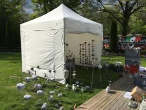 Marktpavillon für Kunsthandwerkermarkt