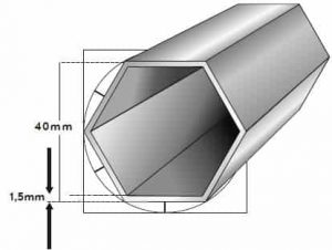 40mm 6-Kant Profil
