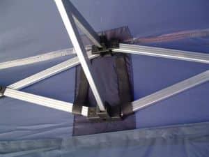 Verstärkte Auflagen für das Faltpavillondach