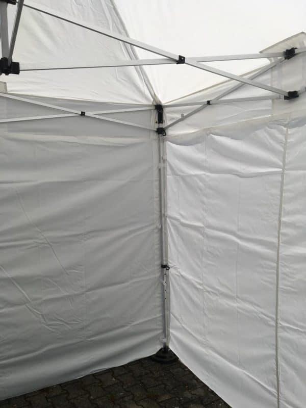 Marktstand 3x3m Detailfoto Wände.