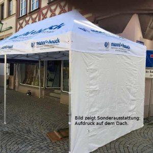 Faltpavillon individuell für Kunden bedruckt