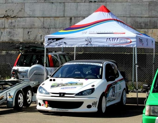 Faltpavillon für Rennstrecke - Racingtent
