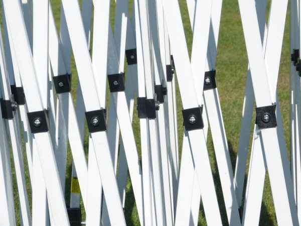 Detailfoto 29mm Stahl-CC Faltpavillonrahmen - Struktur