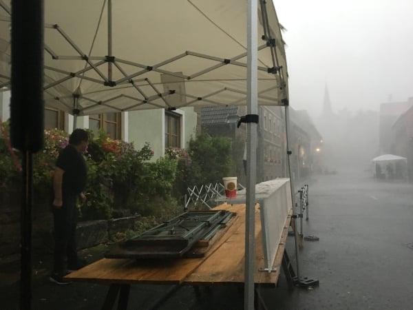Starkregen und Sturm