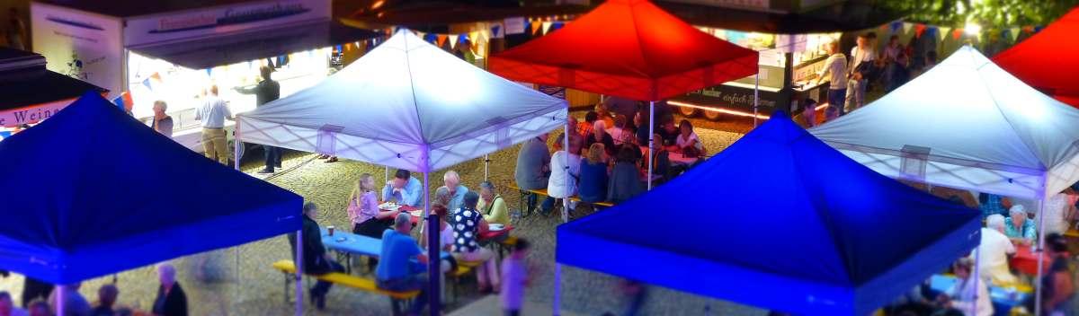 Faltpavillons Stadtfest