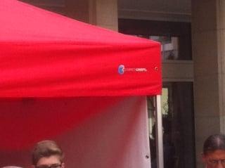 Fabe rot für Faltpavillons