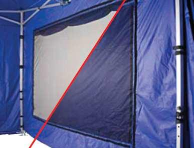 Die praktischen Netzfenster in den Seitenteilen lassen sich verschließen. Geöffnet sorgen sie für eine gute Belüftung.