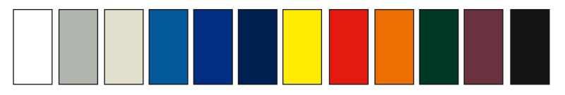 Faltpavillon Farben