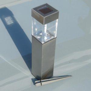 LED Solar Gartenleuchte quadratisch