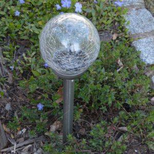 LED Solar Kugelleuchte 12cm