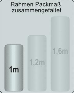 Faltpavillon 3x3m - 1m Packmaß