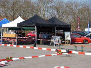 Racing Zelt auf Veranstaltung