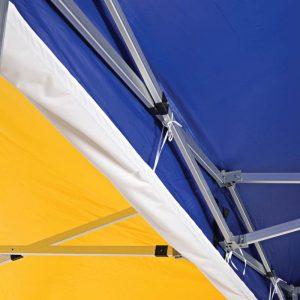 Regenrinne für Faltpavillons