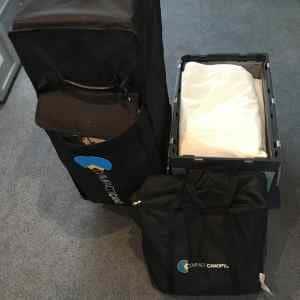 Faltpavillon verpacken