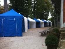 Faltpavillons Event blau weiß