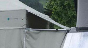 Anbindung Faltpavillon Vorzelt an Camper